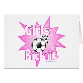 Girls Kick it Greeting Card