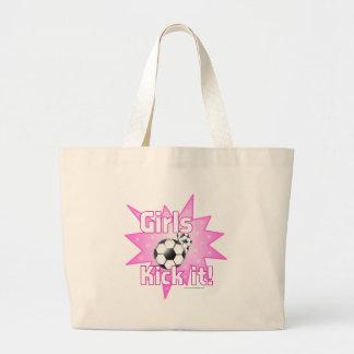 Girls Kick it Large Tote Bag