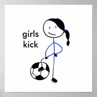 Girls Kick Poster