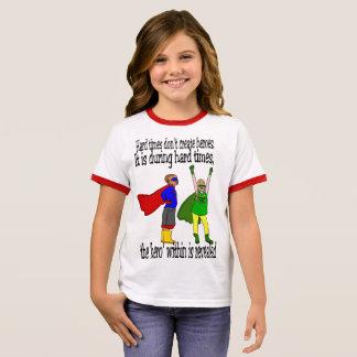 Girl's kids can be heroes charity tshirt