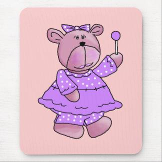 Girls Kid's Purple Lollipop Bear Mouse Pad