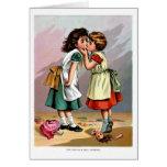 Girls Kissing Greeting Cards