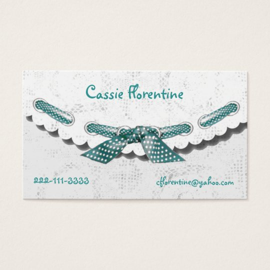 Girl's lacey calling Card