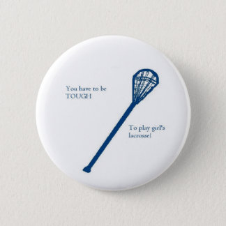 Girls' lacrosse 6 cm round badge