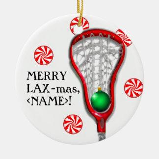 girls lacrosse christmas ornament