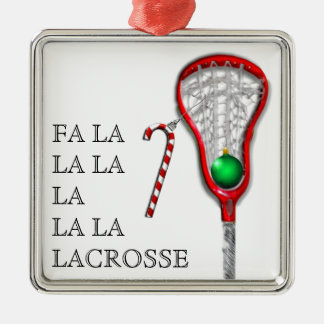 girls lacrosse collectible Silver-Colored square decoration