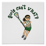Girls Lacrosse Green Poster