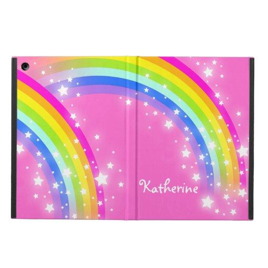 Girls long name rainbow pink ipad air powis