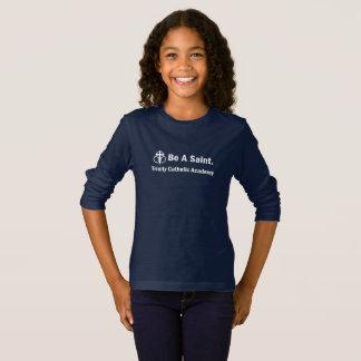 Girl's Long-Sleeve T-Shirt: Be A Saint T-Shirt