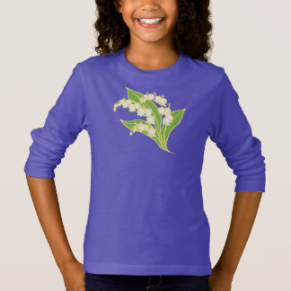 Girls Long-sleeved Sweatshirt: Lily of the Valley T-Shirt