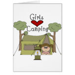 Girls Love Camping Card