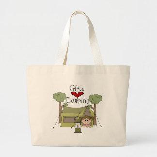 Girls Love Camping Jumbo Tote Bag