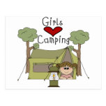 Girls Love Camping Postcard
