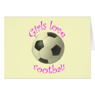 Girls Love Football art Card
