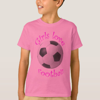 Girls love football art gifts T-Shirt