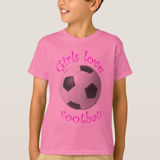 Girls love football art gifts T-Shirt