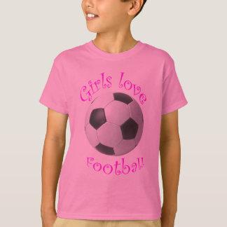 Girls love football art gifts t-shirts