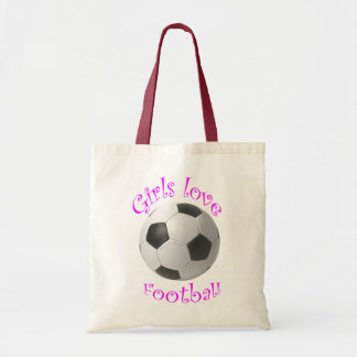 Girls Love Football art Tote Bag