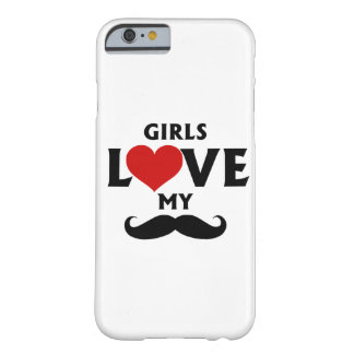 Girls Love My Mustache iPhone 6/6s Barely There iPhone 6 Case