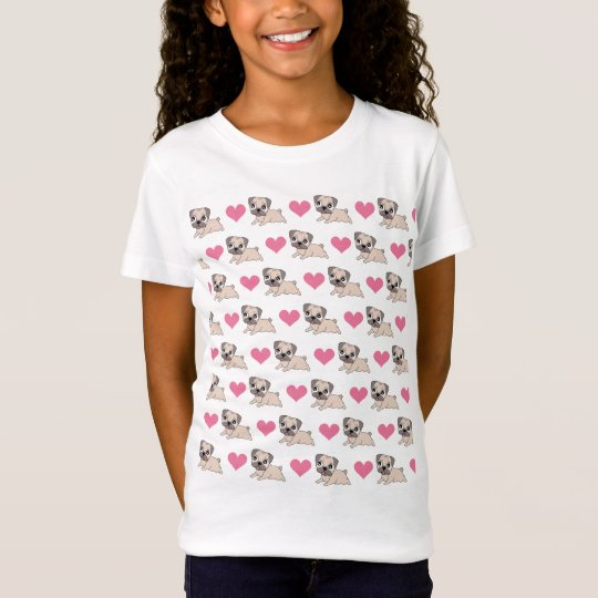 Girls Love Pugs T-Shirt