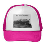 Girls Love Trains Too! Steam Engine Train Cap