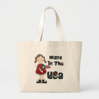 Girls Made In The USA Tote Bag