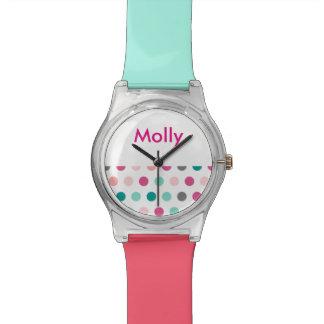 Girls Monogram Polka Dots Wristwatches