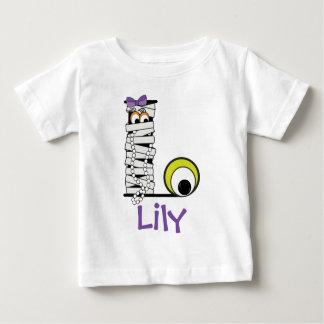 Girls Monster Shirt w Mummy Monogram Initial L