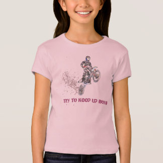 Girls Motocross Rider T-Shirt