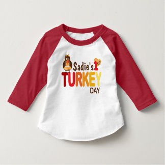 Girls My First Thanksgiving Turkey Day tshirt