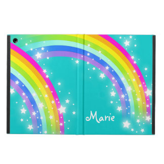 Girls name rainbow aqua ipad air powis case
