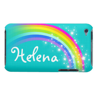 Girls name rainbow aqua ipod touch case