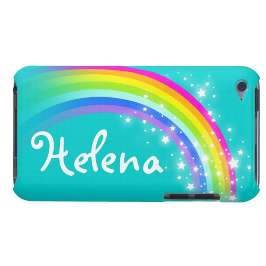 Girls name rainbow aqua ipod touch case