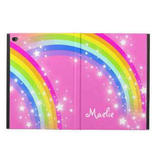 Girls name rainbow pink ipad air powis case
