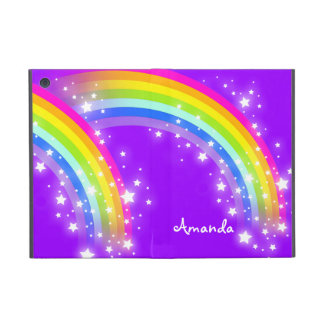 Girls name rainbow purple ipad air powis case
