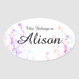 Girls Name Stickers