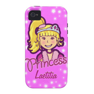 Girls named princess star lilac pink iphone case iPhone 4 case