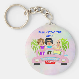 Girls Night keychain Basic Round Button Keychain