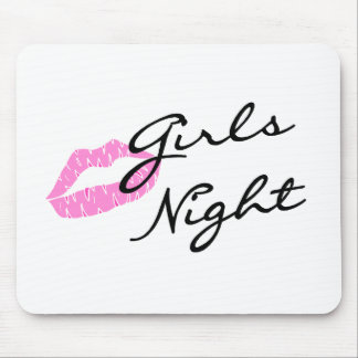 Girls Night (Lips) Mouse Mat