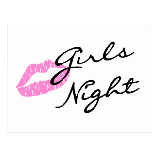 Girls Night (Lips) Postcard