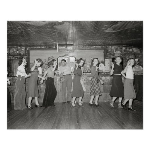 Girls Night Out, 1938. Vintage Photo Poster