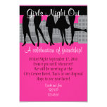 """Girls Night Out 3.5"""" X 5"""" Invitation Card"""