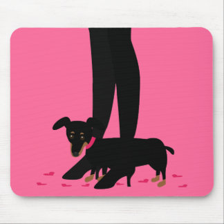 Girls' Night Out - Dachshund Mouse Pad
