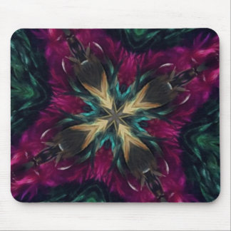 Girls Night Out Feather Boa Kaleidoscope Mouse Pad