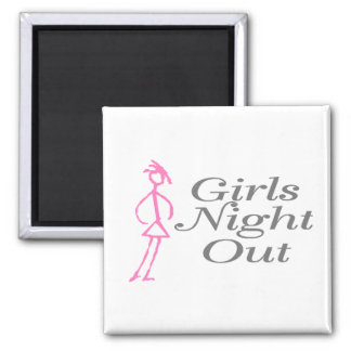 Girls Night Out (Girl) Square Magnet