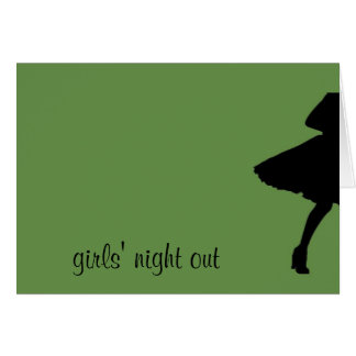 girls' night out greeting card