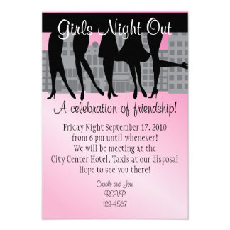 Girls Night Out Personalized Announcements