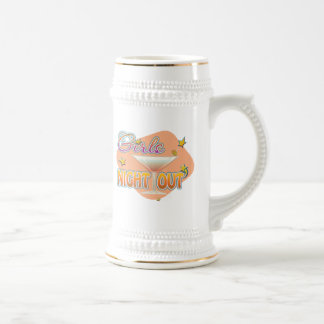 girls night out, last night out bachelorette party beer stein