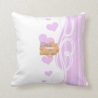 girls night out, last night out bachelorette party cushion