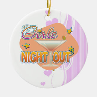 girls night out, last night out bachelorette party christmas ornaments